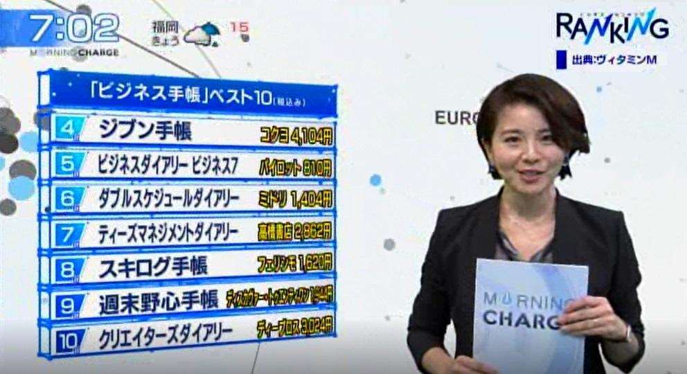 テレビ東京「モーニングチャージ」で放映されました。
